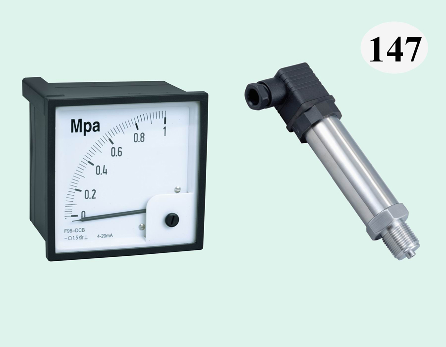 F96-DC压力表(直角),配SC-PB8000压力变送器