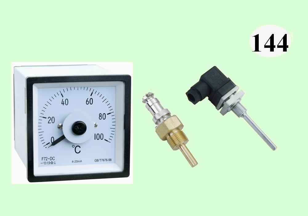 F72-DC温度表,配Pt100温度传感