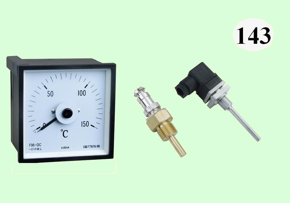F96-DC温度表,配Pt100温度传感